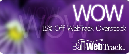 Save 15% Off Ball WebTrack Overstock